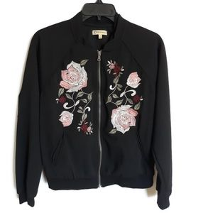 Democracy embroidered bomber jacket sz S